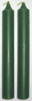Dark Green Chime Candle 20pk