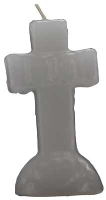 White Cross candle