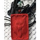 Pre-Conjure Alpha Werewolf in Natural Cinnabar Pendant and Necklace