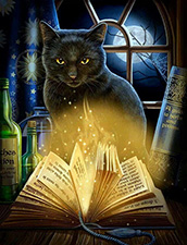 Bewitched Cat Card by Lisa Parker