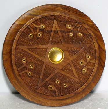 Wooden Pentagram burner