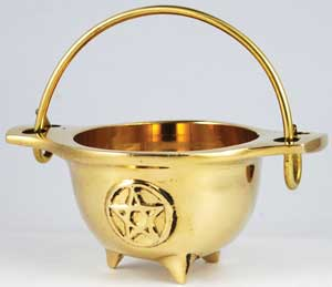 Small Brass Cauldron 3""