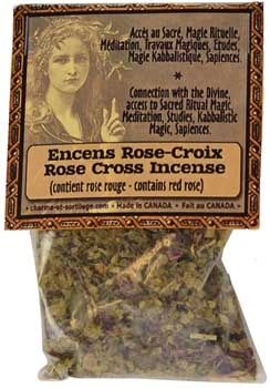 Rose Cross resin/ herb incense