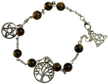 Tigers Eye anklet