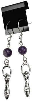 Amethyst Goddess earrings