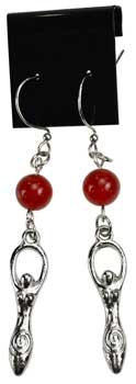 Carnelian Goddess earrings