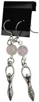 Fluorite Goddess earrings