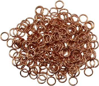 1 Lb Jump Rings, copper plated