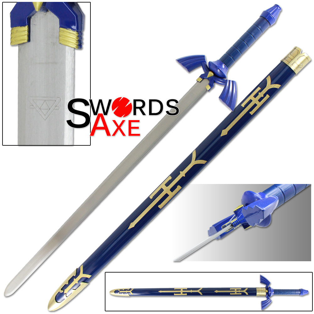 Legend of Zelda Link's Master Sword w Scabbard - Steel Replica