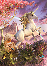 Spring has Sprung Unicorn Card by David Penfound - 6 Pack