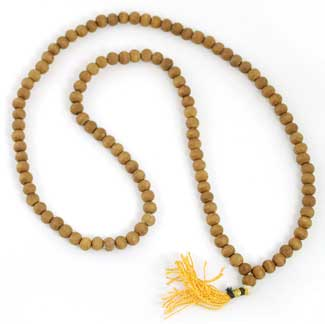 Small Sandalwood Prayer Mala 3.5mm