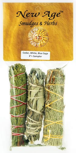 Cedar,White& Blue Sage smudge 3pk