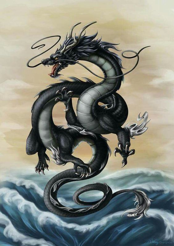 Pre-Conjure Black Chinese Dragon