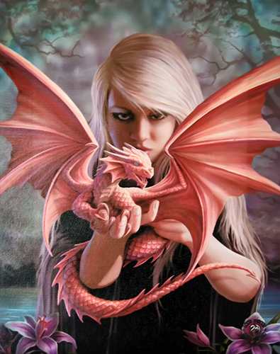 Dragon Kin Canvas Art Print by Anne Stokes